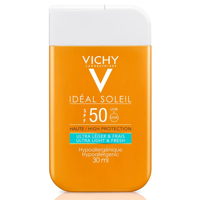 Vichy Ideal Soleil SPF50 Αντηλιακό Γαλάκτωμα Ultra Light & Fresh POCKET SIZE 30ml
