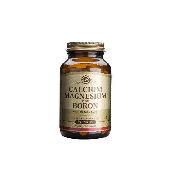 Solgar calcium magnesium + boron tabs 100s (βοηθά τα οστά, εμμηνόπαυση)