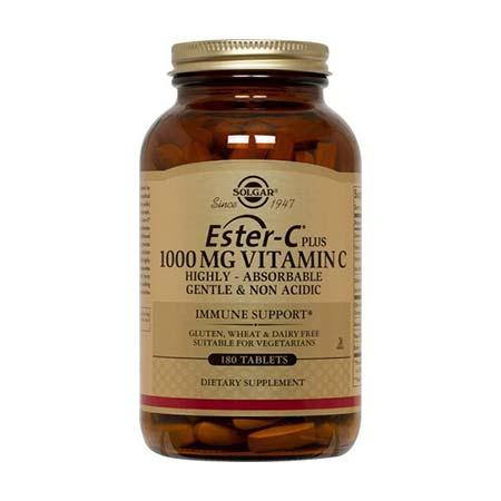 Solgar Ester-C 1000mg Vitamin C 180 ταμπλέτες