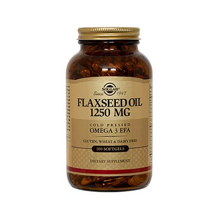 Solgar Flaxseed Oil (Linseed Oil) Cold Pressed 1250mg 100 μαλακές κάψουλες
