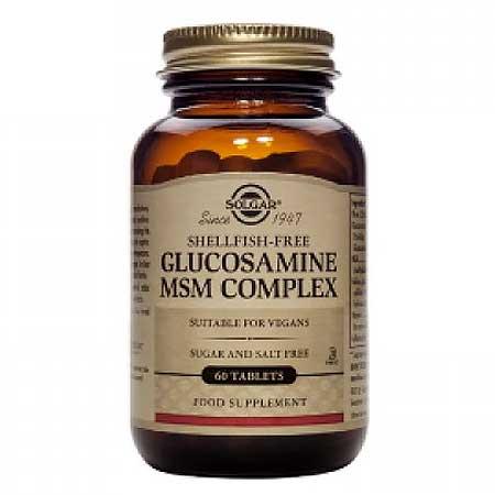 Solgar Glucosamine Lite MSM Complex (VEGAN) 60 Ταμπλέτες