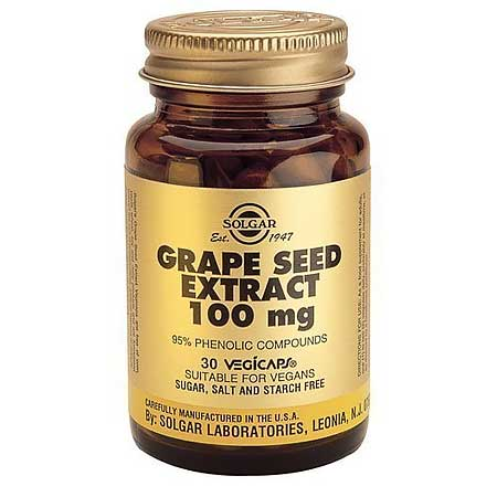 SOLGAR Grape Seed Extract 100mg 30 Κάψουλες