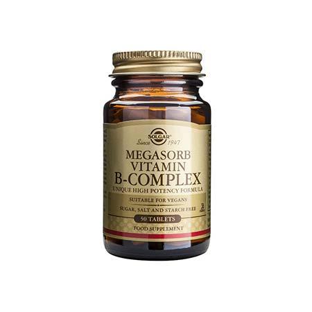 SOLGAR MEGASORB B COMPLEX 50tabs