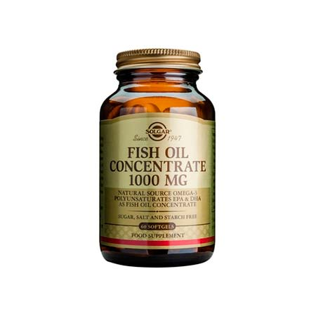 SOLGAR FISH OIL CONCENTRATE 1000mg softgels 60s