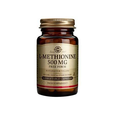 Solgar L-Methionine 500mg 30 φυτικές κάψουλες