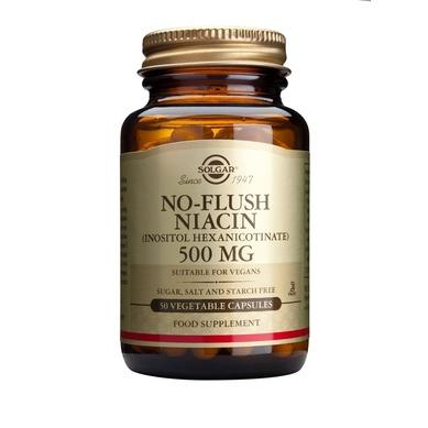 Solgar No-Flush Niacin 500mg 50 φυτικές κάψουλες