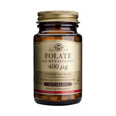 Solgar Folate (as Metafolin) 400mg 50 tabs