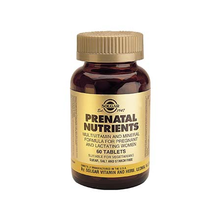 SOLGAR PRENATAL NUTRIENTS 60 tabs