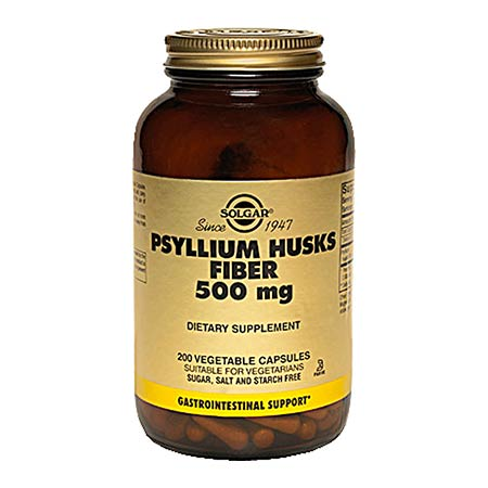 SOLGAR PSYLLIUM HUSKS FIBRE 500mg, 200 veg.caps