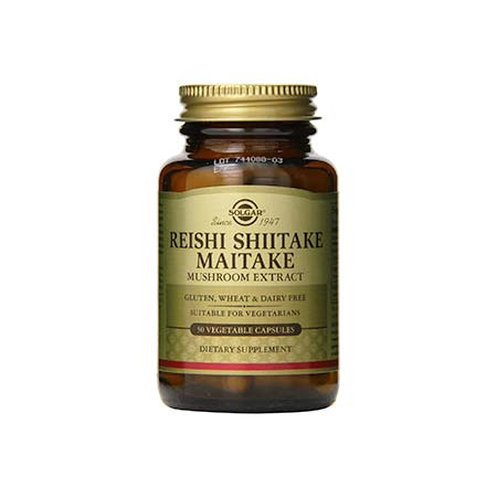 SOLGAR REISHI SHIITAKE MAITAKE veg.caps 50s