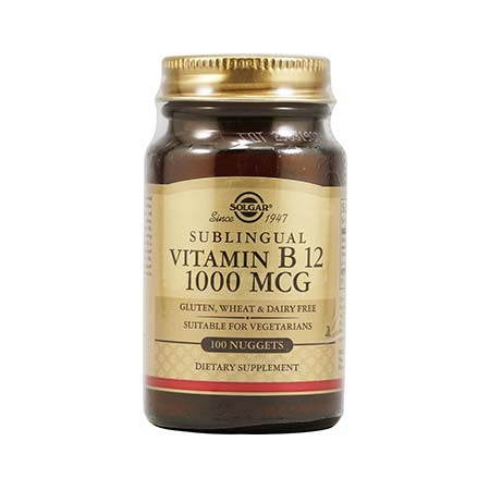 SOLGAR VITAMIN B-12 1000mg 100nuggets