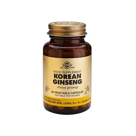 SOLGAR KOREAN GINSENG veg.caps 50s