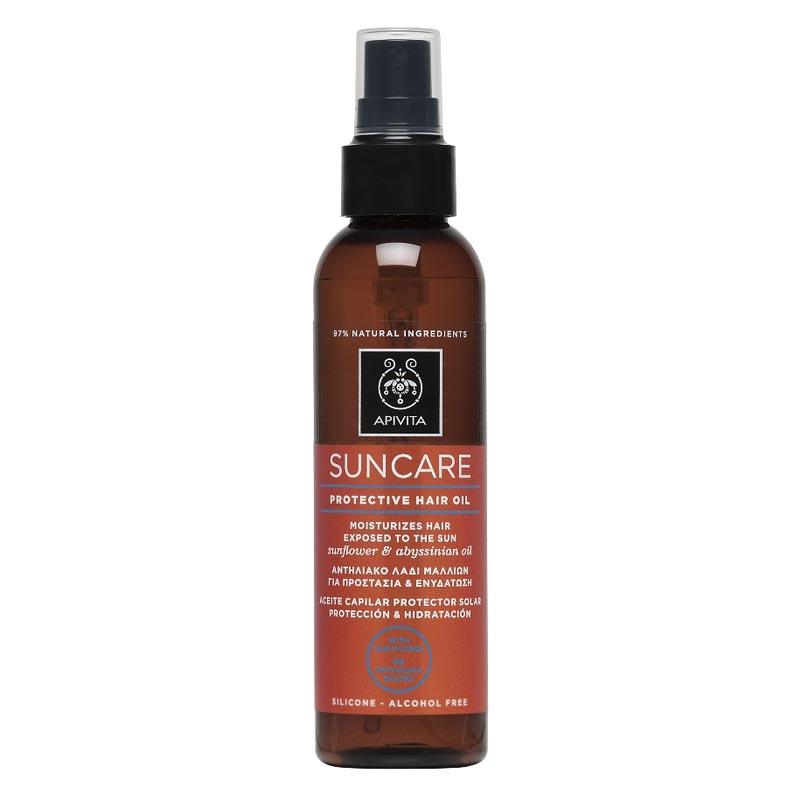 Apivita Suncare Protective Hair Oil Αντηλιακό Λάδι Μαλλιών 150ml