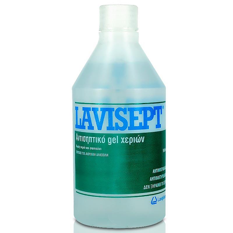 Lavisept Αλκοολούχο Gel Χεριών Για Ήπια Αντισηψία (Flip Top) 500ml