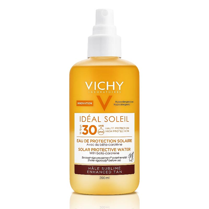 Vichy Ideal Soleil SPF30 Νερό Προστασίας απο τον Ήλιο για Λαμπερό Μαύρισμα 200ml