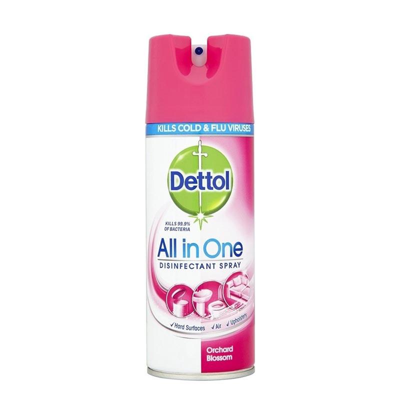 Dettol Spray Orchard Blossom, Απολυμαντικό Αντιβακτηριδιακό Σπρέι 400ml