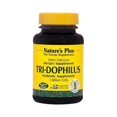 Natures Plus Tri Dophilus Ισχυρό Συμπλήρωμα Προβιοτικών 60 φυτικές κάψουλες