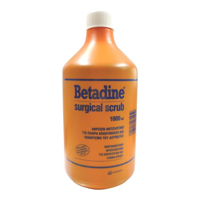 Betadine surgical scrub 1000ml Αφρίζον Αντισηπτικό Δέρματος
