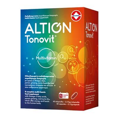 Altion Tonovit Multivitamin Συμπλήρωμα Διατροφής 40 κάψουλες