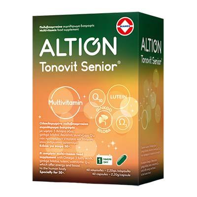Altion Tonovit Senior Multivitamin Συμπλήρωμα Διατροφής για άτομα 50+ , 40 κάψουλες