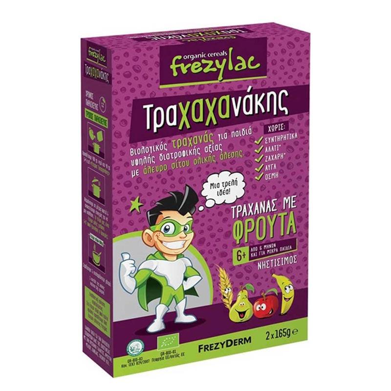 Frezyderm - Frezylac Τραχαχανάκης Βιολογικός Τραχανάς με Φρούτα Νηστίσιμος 6Μ+ 2x165g