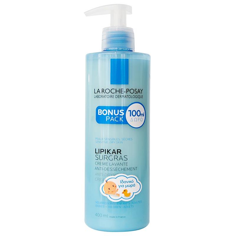 La Roche Posay Lipikar Surgras Shower Cream 400ml (Bonus Pack 300+100ml ΔΩΡΟ)