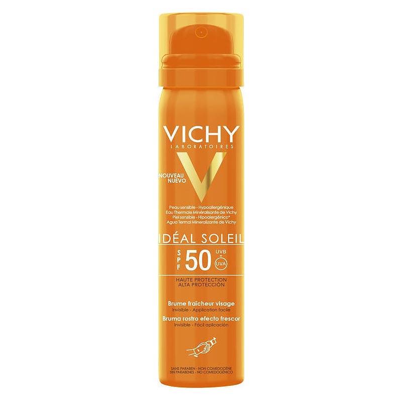 Vichy Ideal Soleil Brume Fraicheur Visage Αντηλιακό Δροσερό Mist προσώπου SPF50 75ml