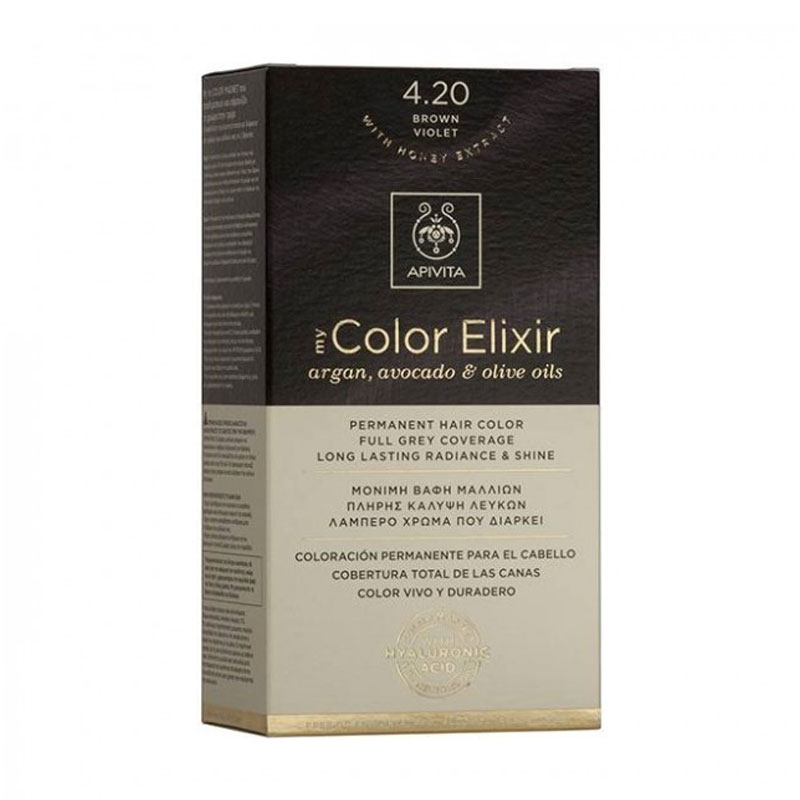 Apivita - My Color Elixir Βαφή Μαλλιών 4.20 - Καστανό Βιολετί