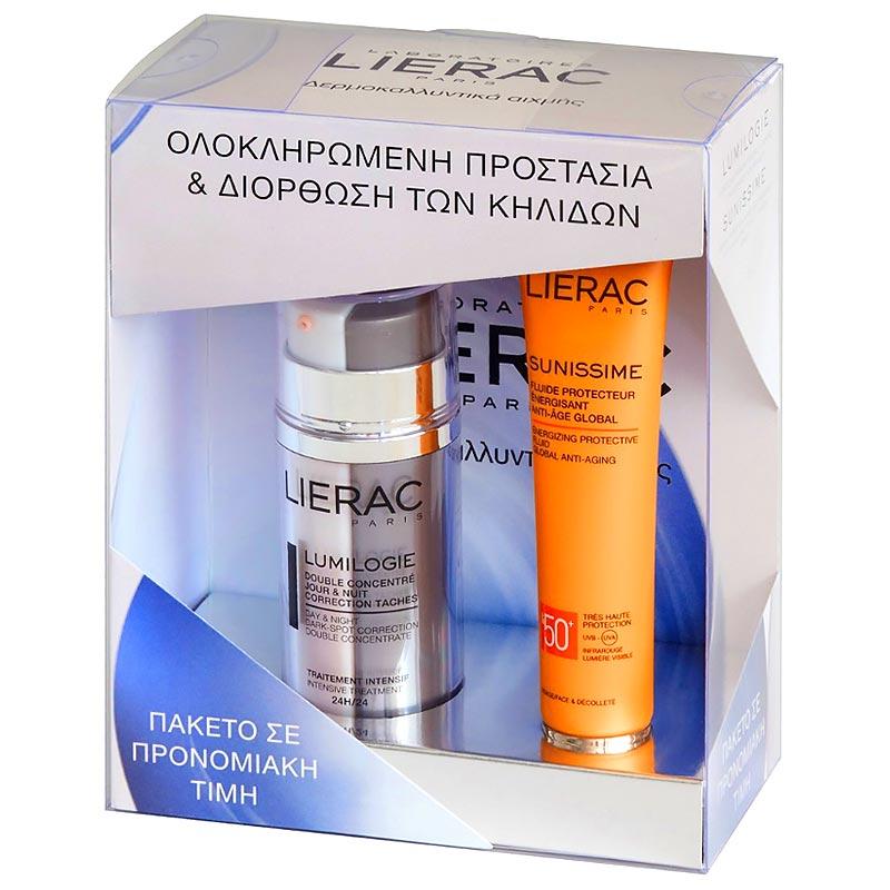 Lierac Lumilogie 15 ml + 15 ml & Sunissime Protective Energizing Fluid Global Anti-Ageing SPF50+ 40 ml