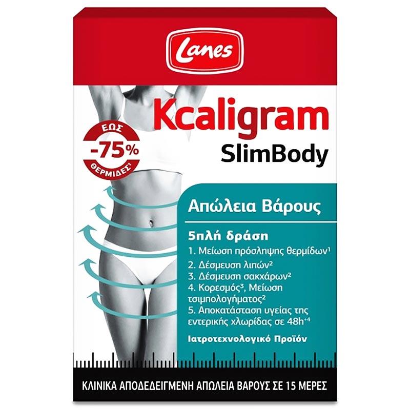 Lanes Kcaligram SlimBody Συμπλήρωμα Διατροφής Για Απώλεια Βάρους 60 Κάψουλες