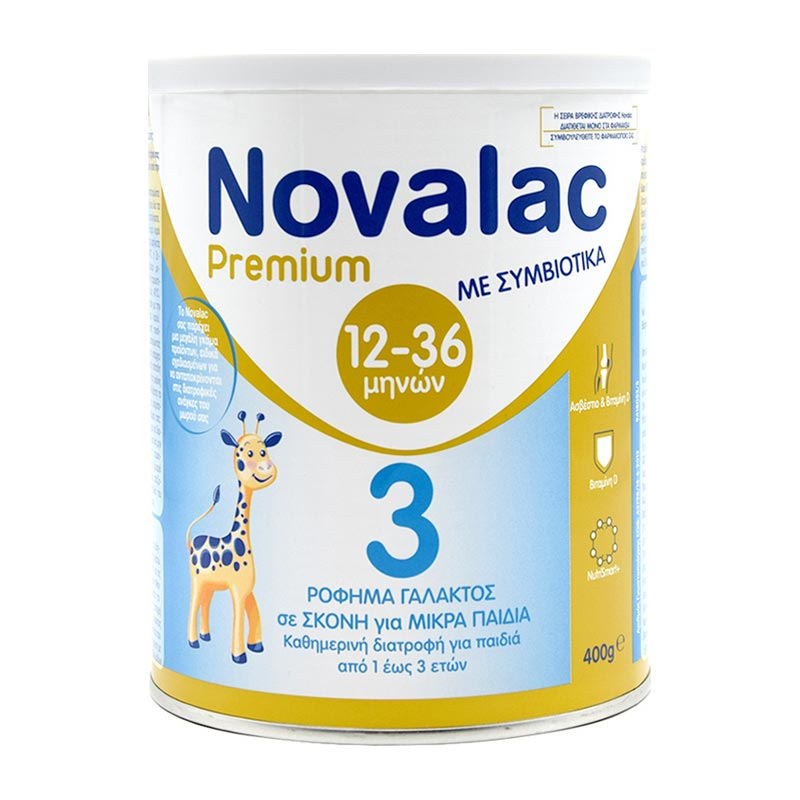 Novalac Premium 3 Ρόφημα Γάλακτος με Συμβιωτικά για Παιδιά από 12 Μηνών 400g