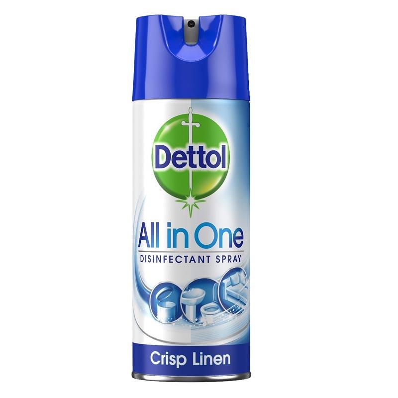 Απολυμαντικό Σπρέι Crisp Linen Dettol (400 ml)