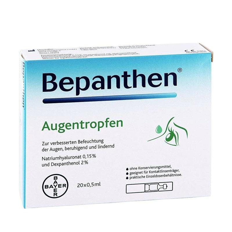 Bepanthene Eye Drops Monodoses Οφθαλμικές Σταγόνες Με Υαλουρονικό Νάτριο 20x0.5ml