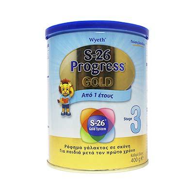 S-26 Progress 3 Gold Βρεφικό Γάλα από το 12ο μήνα, 400gr