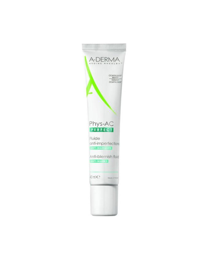 Aderma Phys-AC Perfect Anti-Blemish Fluid Λεπτόρρευστη Κρέμα κατά των Ατελειών & των Σημαδιών, 40ml