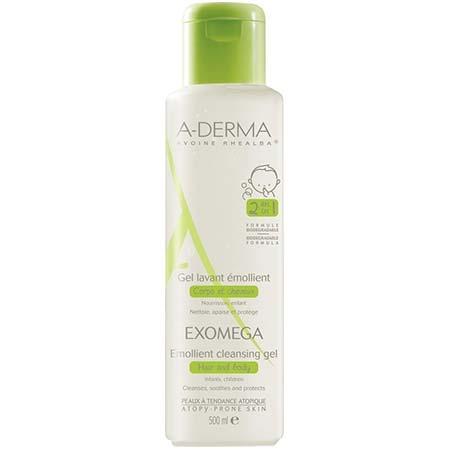 Aderma EXOMEGA Emollient Cleansing Gel Body & Hair 500ml