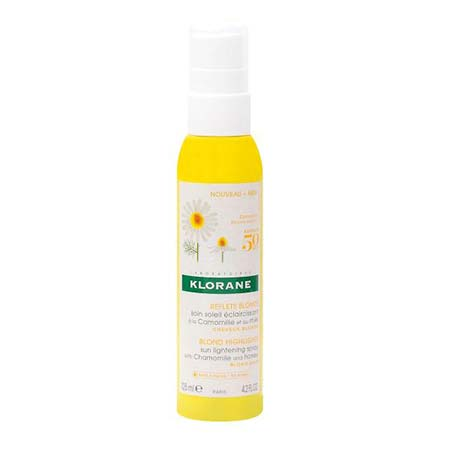 Klorane Blond highlights sun lightening spray με χαμομήλι για χρυσαφένιες ανταύγειες 125ml