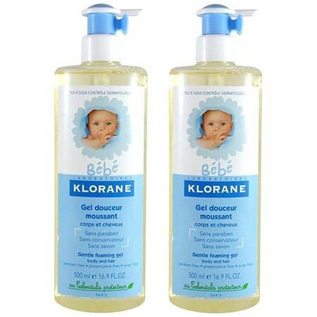 Klorane PROMO Bebe Gel Douceur Moussant Corps et Cheveux 2 x 500ml