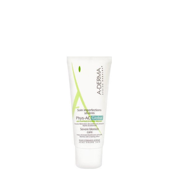 Aderma Phys-AC Creme Global Soin Imperfections Severes, Φροντίδα Κατά των Ατελειών 40ml