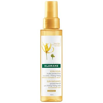 Klorane Sun Radiance Protective Oil with Ylang-Ylang Wax Λάδι για τα Μαλλιά 100ml