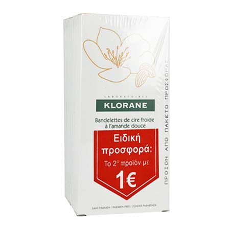 Klorane Cold Wax Small Strips Sweet Almond 2x6τεμ.
