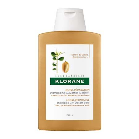 Klorane Σαμπουάν Με Χουρμά της Ερήμου για Ξηρά-Ταλαιπωρημένα Μαλλιά 200ml