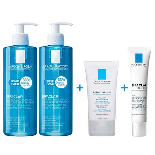 ULTIMATE PROMO SET La Roche Posay Effaclar: Gel 2x400ml + Mat 40ml +  Duo[+] 40ml