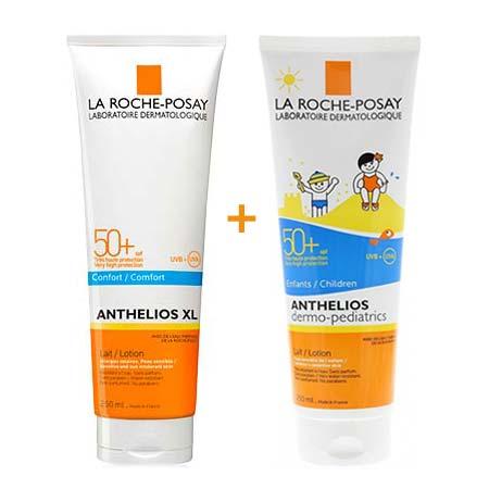 Ultimate Promo Set 1+1 La Roche Posay: Anthelios XL Lait Comfort SPF50 250ml + Anthelios Lait Dermo-Pediatrics SPF50 250ml