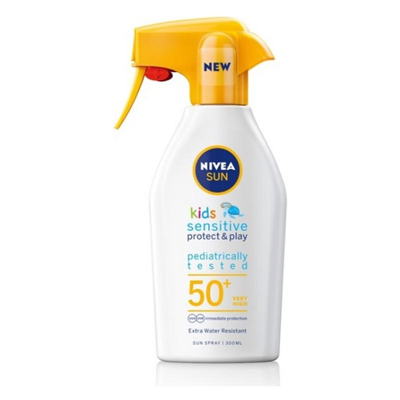 Nivea Kids Sensitive Protect & Play Αντηλιακό Trigger Spray SPF50 300ml