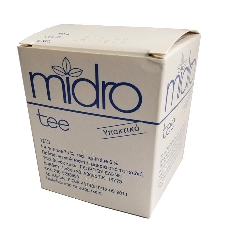 MIDRO TEA,Φυσικό υπακτικό που τονώνει την λειτουργία του εντέρου