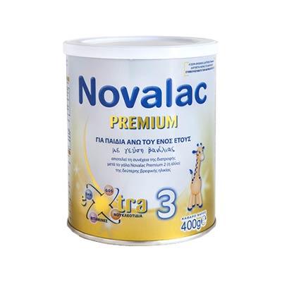 Novalac PREMIUM 3 Γάλα για Παιδιά Άνω του Ενός  Έτους, με Γεύση Βανίλια 400g