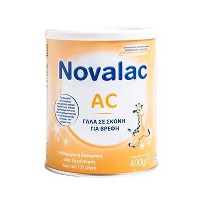 Novalac AC Βρεφικό Γάλα σε σκόνη Αντιμετώπιση των κολικών μετεωρισμών από την γέννηση 400g