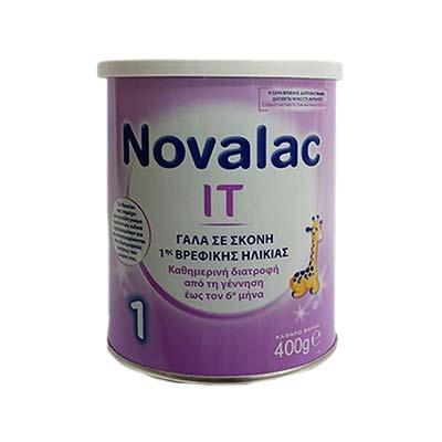 Novalac IT 1 Γάλα Σκόνη 1ης Βρεφικής Ηλικίας από τη γέννηση 400g