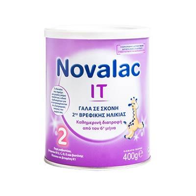 Novalac IT 2 Γάλα Σκόνη 2ης Βρεφικής Ηλικίας από τον 6ο Μήνα 400g